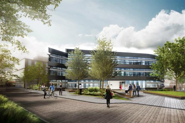 Artist's impression of the new Oxford campus by Caravan Images for MAKE Architects