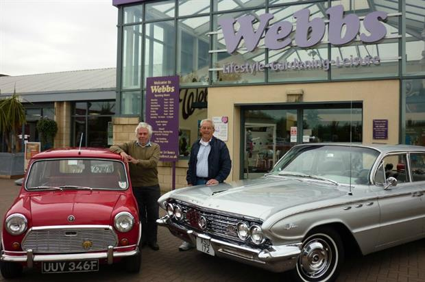 Simon Hitchin from Bromsgrove with his Austin mini-woodie and John Harrison of Kempsey with his 1961 Buick LeSabre