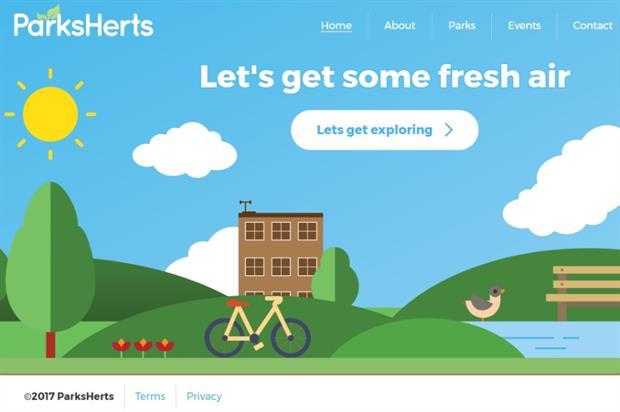 The ParksHerts website homepage. Image: ParksHerts