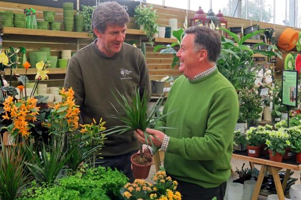 Harlow Carr curator Paul Cook, left, with Martin Fish. Image: RHS