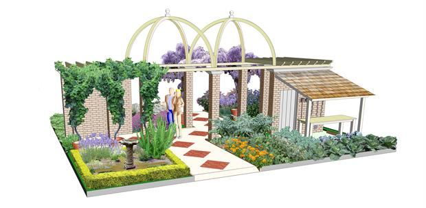 The Glory of the Garden, artist's impression