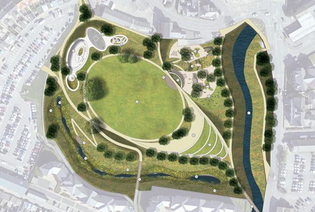 Artist impression of Pilton Park masterplan. Image: LDA Design