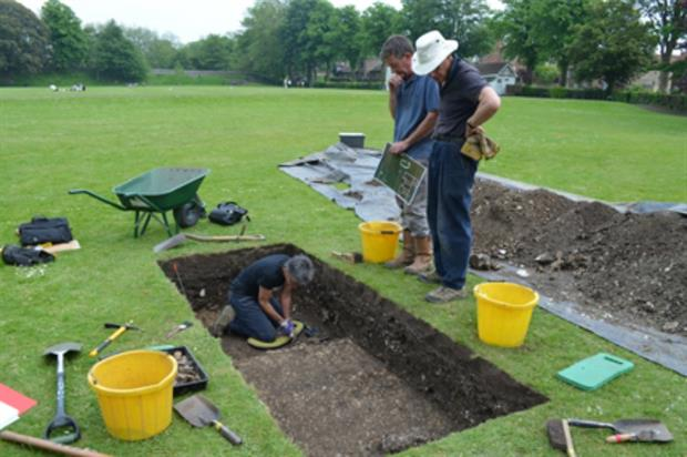 The Roman houses were protected by the park for over 1,600 years. Image: Chichester District Council