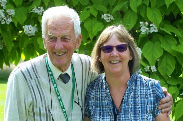 Lance Sanderson with Sandra Nicholson at Writtle College