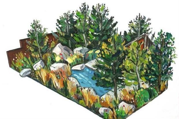 Forest inspiration: Sarah Harris' design for RBC. Illustration by Sarah Jane Moon