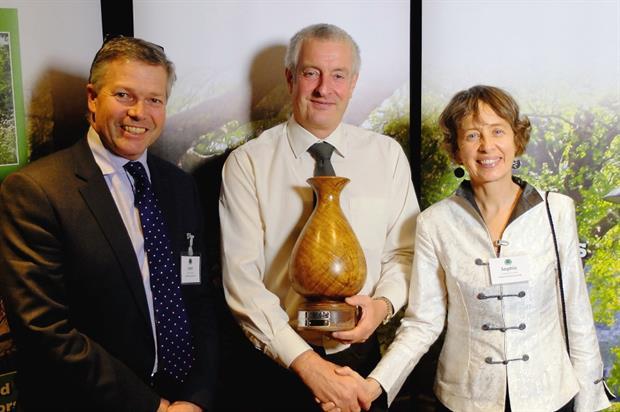Bennett receives his award from Lockhart (left) and Churchill - Image: RFS