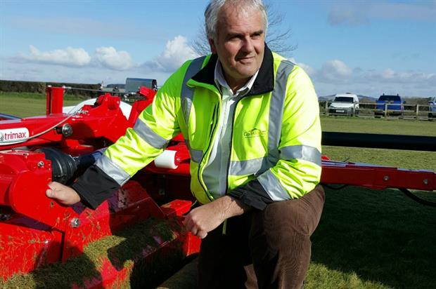 GJ contracts manager Rob Aplin with the new Pegasus. Image: Supplied