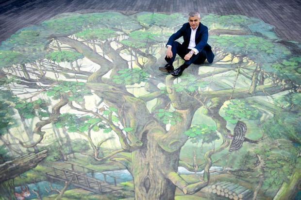 Mayor Sadiq Khan at the launch of London Tree Week. Image: Supplied
