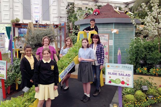 School garden: Scotts' myth-busting exhibit at the Chelsea Flower Show proved a successful focus on modern feeds - image: HW