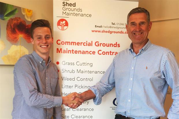 Shed Grounds Maintenance newcomer Joe Gratton with Peter Botham - image: Shed Grounds Maintenance