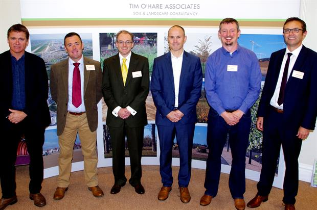 Conference speakers: SoilsCon organised by Tim O'Hare Associates and held in Helney-on-Thames, Oxfordshire - image: Tim O'Hare Associates