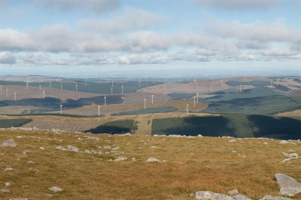 The wind farm is in one of the UK's wildest areas. Image: LDA Design