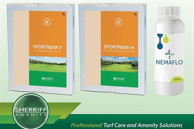Sportnem-H turf pest treatment - image: Sherriff Amenity