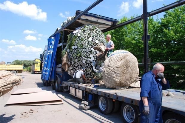 Aluminium lace to arrive at Chelsea Flower Show. Image: Supplied