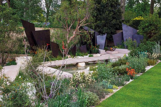 Best in Show: Andy Sturgeon's Telegraph Garden evoked landscape of a different geological era a million years ago - image: HW