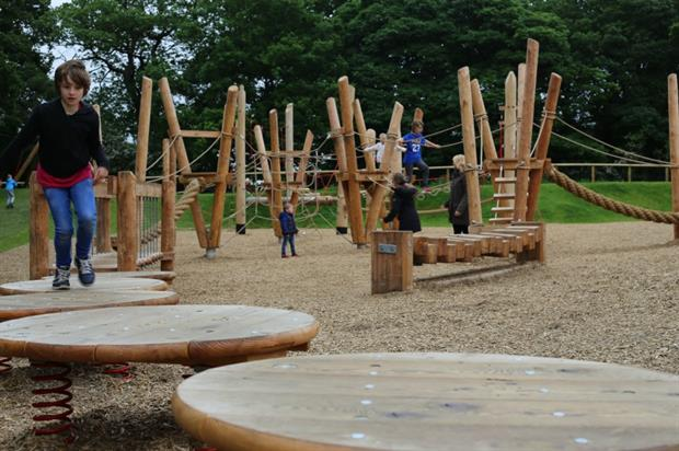 The Oasis Adventure Play Area at Yorkshire Wildlife Park. Image: Timberplay