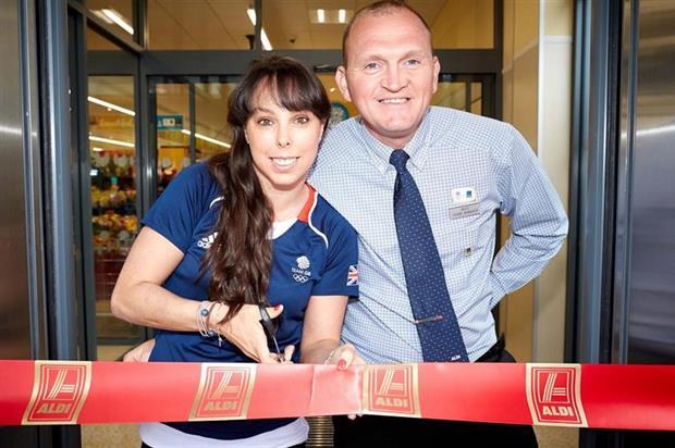 Olympic gymnast Beth Tweddle opens an Aldi store in North Yorkshire last month - image:Aldi