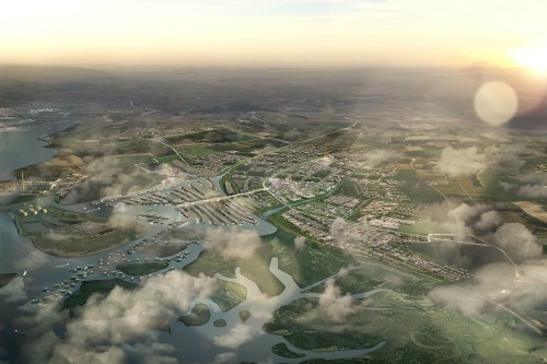 The Shelter entry proposes a garden city on the Hoo Peninsula in Medway, Kent