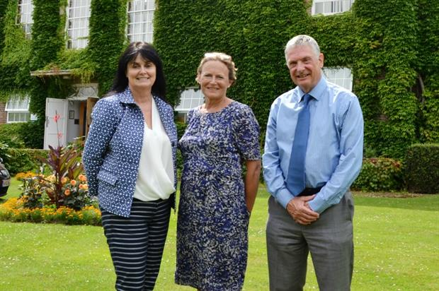 (L-R) Writtle chair of the board of governors Julia Smith, Anne Jenkin and Dr Stephen Waite
