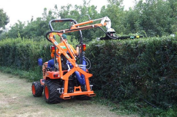 The Wessex BRM hedge cutter in action. Image: Supplied