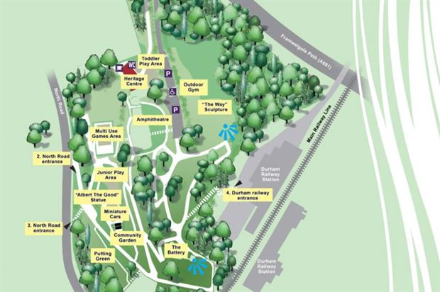 Map of Wharton Park. Image: Supplied