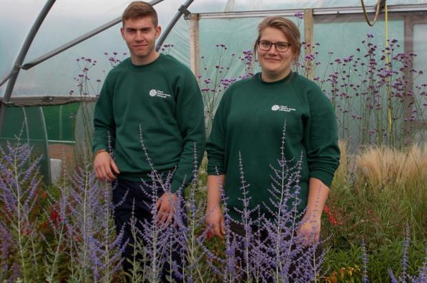 Kevin Klein-Woolthuis and Jennifer Wright. Image: RBGE