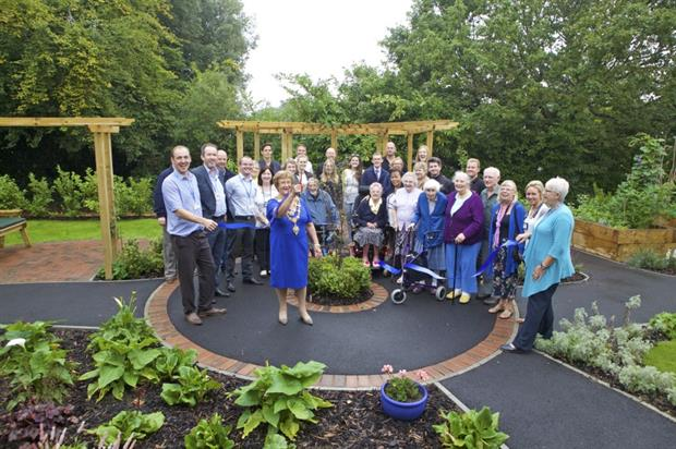 Mayor of London Anne Stribley reopens the garden. Image: Supplied