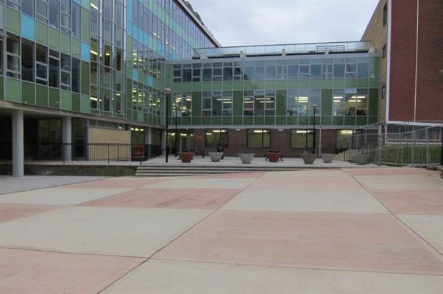 New courtyard at Ark Putney Academy. Image: Blakedown