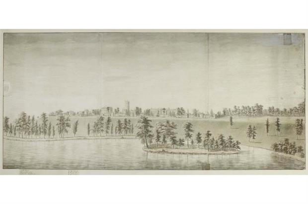 Capability Brown's Blenheim Palace sketch. Image: Supplied