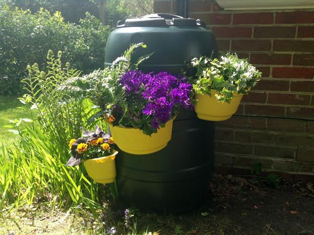 Buttacup's planters attach to water butts. Image: Supplied