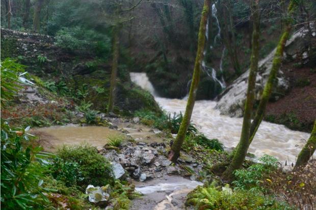 Wales' Cadnant River during December's floods. Image: Anthony Tavernor