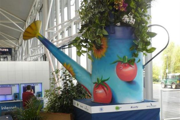 Tropical Giant Watering Can at Bristol Airport