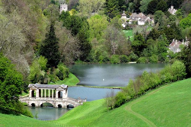 Prior Park Landscape Garden, Bath, Somerset, England with gardens designed by Capability Brown - image; FlickR/Spencer Means