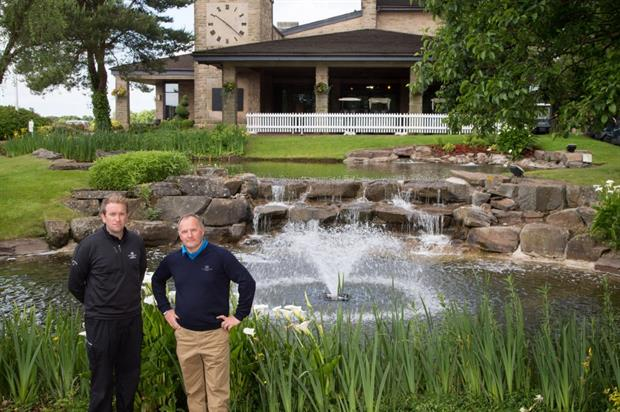 Otterbine's Noel O'Connell, left, with Celtic Manor's Jim McKenzie. Image: Otterbine