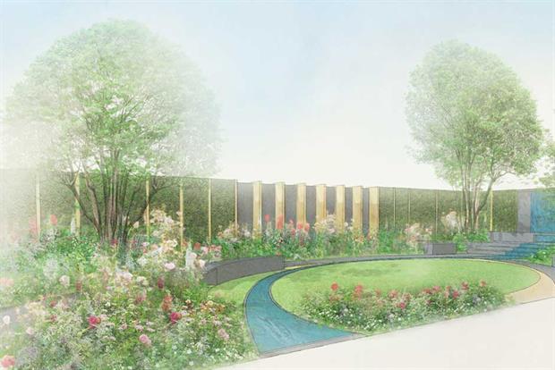 Jo Thompson's Chelsea Barracks garden.