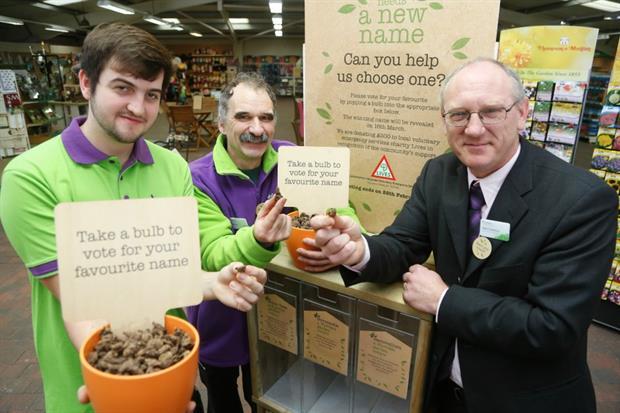 (Left to right) – Centre staff Simon Nagle and Trevor Blake alongside Garden Centre Manager Ken Dawson.