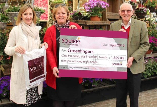 Sarah Squire (Squire's), Linda Petrons (Greenfingers) & Colin Squire (Squire's)
