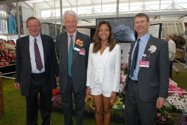 Charles Williams (Burncoose); Rupert Eley (The Place for Plants); Naomie Harris (Prince's Trust Celebrity Ambassador) and David Millais (Millais Nurseries)