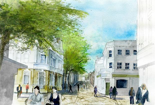 LDA vision for Chatham for Medway Council - image: LDA Design