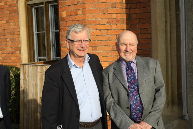 Incoming chairman of Tillington Buying Group, Dennis Espley with Harry McDermid