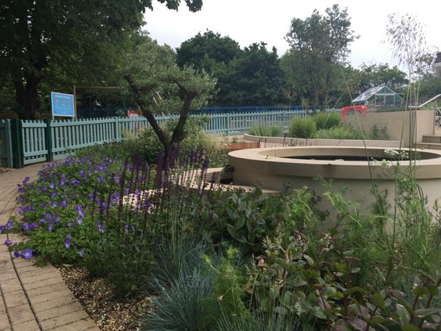 RBC Chelsea Garden at Earl Mountbatten Hospice on the Isle of Wight