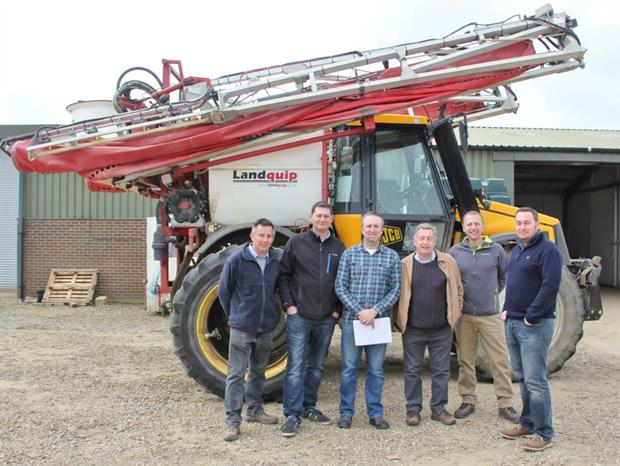 Whartons General Manager James Taylor (far left), Paul Wharton (far right) and Tony Slack (third from right)