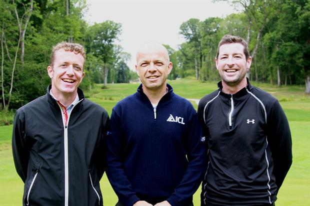 L-R: Avoncrop's Andrew Wood, Everris' Michael Fance and course manager Dan O'Rourke. Image: Everris