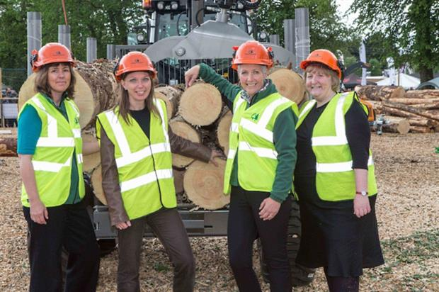 L-R: Amanda Bryan, Forestry Commissioner; Dr Aileen McLeod, environment minister; Jo O'Hara, head of Forestry Commission Scotland; and Bridget Campbell, director of Scottish Government's Environment and Forestry Directorate. Image: FCS