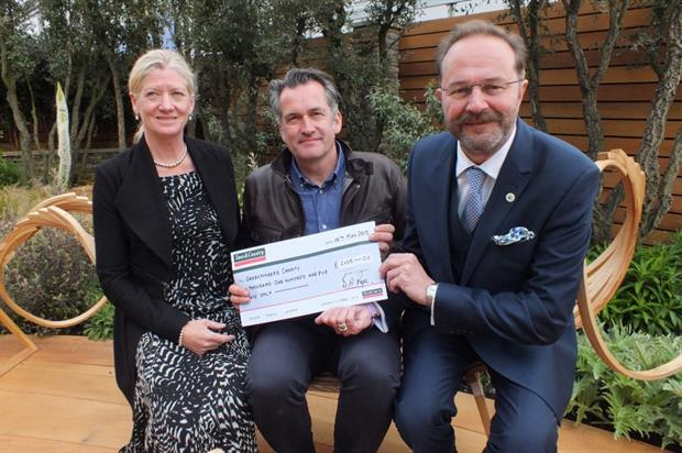 L-R Greenfingers trustee Carol Paris, chairman Matthew Wilson and Town & Country's Jamieson Page. Image: Supplied