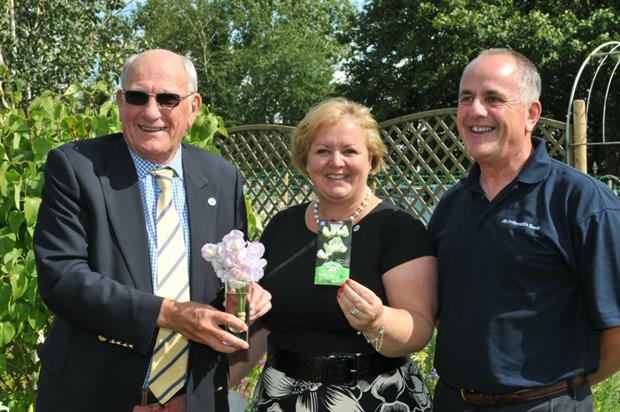 Greenfingers chairman John Ashley, Linda Petrons, Tim Jeffries