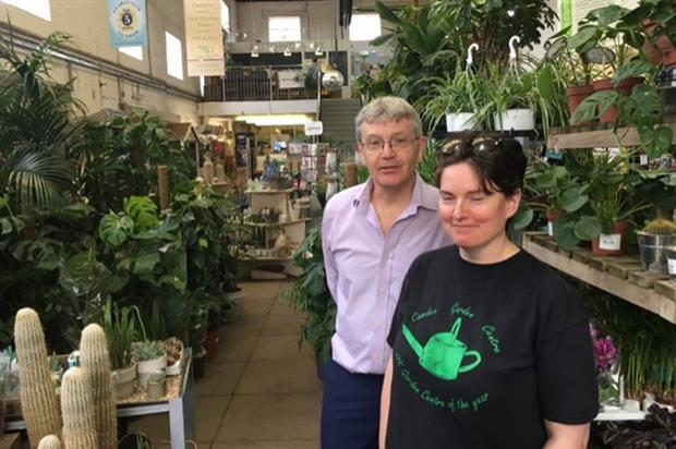 Peter Hulatt and Vicky Jameson of Camden Garden Centre