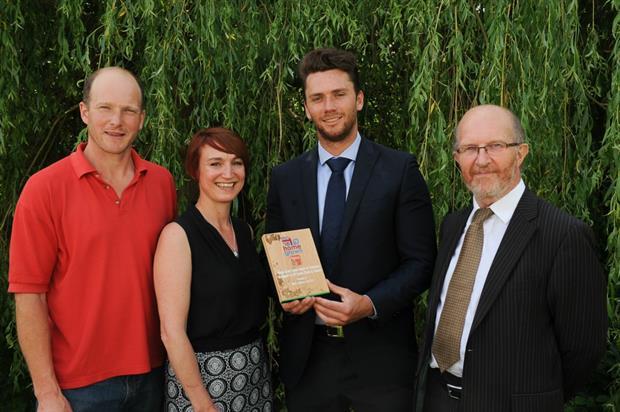 Tom Hart-Dyke, Simon Davenport, Tracey Dunn (Hortipak) and Sam Shepherd of Marks & Spencer.