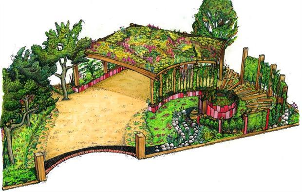 Simon Fagg's Tatton garden