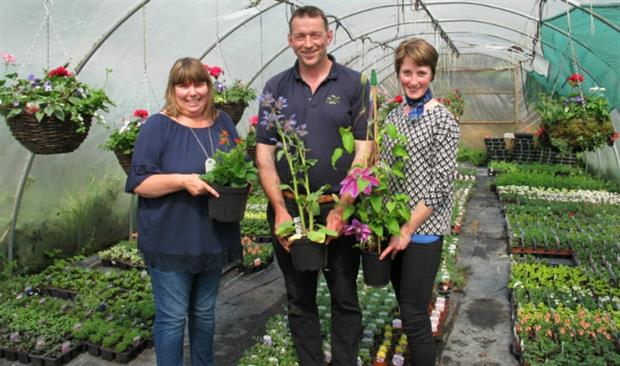 Julie Haylock, Mike Burks of The Gardens Group and Elle Wilson